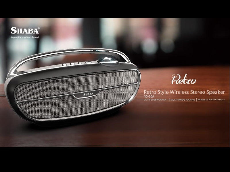 SHABA Retro Style Wireless Stereo Speaker