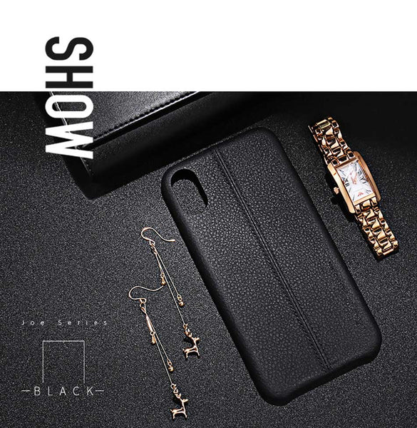 USAMS Joe Series Leather PU Business Style Back Case For iPhone X
