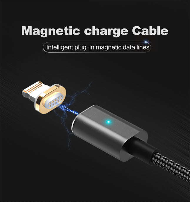 US-SJ132 iPhone Lightning Magnetic cable U-Link Series Silver