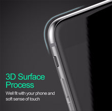 USAMS Carbon Fiber 3D Tempered Glass Screen Protector Premium For iPhone 7 / 7+