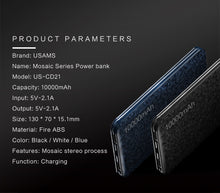 USAMS US-CD21 10000mAh Power Bank Mosaic Series