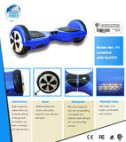 SP-Board 6 UL2272 Certified Safe Smart Self-Balancing Scooter (Hoverboard) Free Shipping