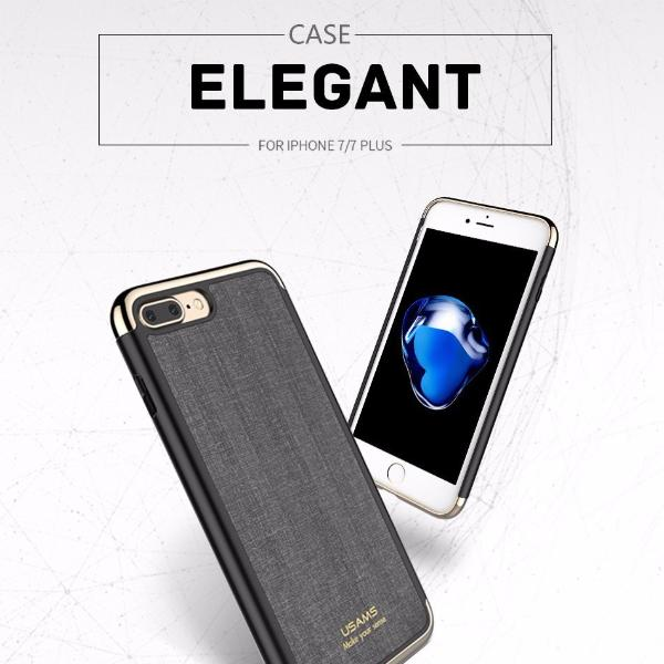 USAMS Elegant Series Plating Three-splicing anti-knock Case For iPhone 8/7 & 8+/7+