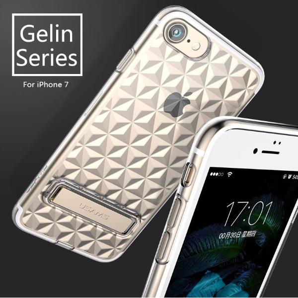 USAMS Gelin Series (With Stand) Transparent Case For iPhone 8/7 & 8+/7+