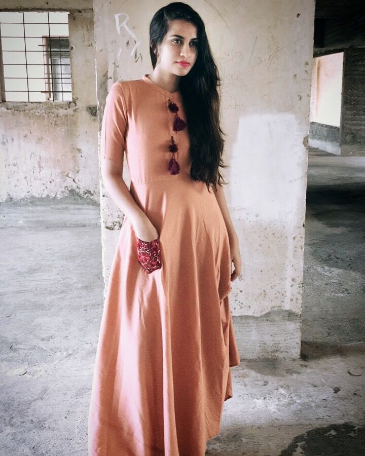 Peach Needle Dress - The Ethnic Fix - Dubai - UAE