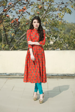 Red Phoolbooti Cape - The Ethnic Fix - Dubai - UAE