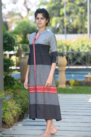 Bold A-Line Kurta - The Ethnic Fix - Dubai - UAE