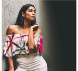 White Tie & Dye Crop Top - The Ethnic Fix - Dubai - UAE