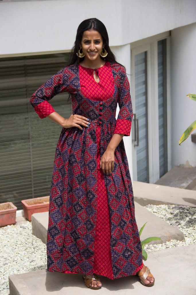Berry Red And Blue Set - The Ethnic Fix - Dubai - UAE