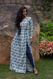 Pearl and Blue Belt Cape - The Ethnic Fix - Dubai - UAE