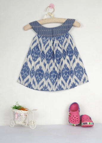 Jade Blue Ikat dress - The Ethnic Fix - Dubai - UAE