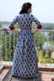 Sterling Block Printed Cape with Pants - The Ethnic Fix - Dubai - UAE