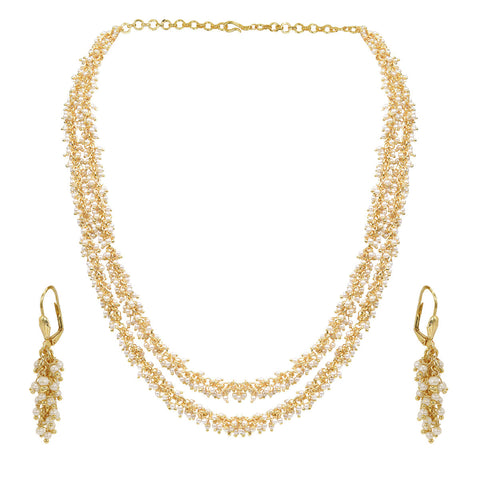 Gold Finish Small Pearl Set - The Ethnic Fix - Dubai - UAE