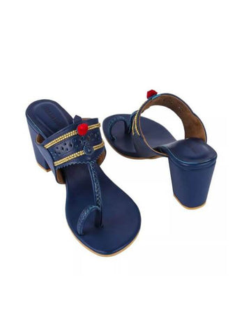 Blue Kaitoon Heels - The Ethnic Fix - Dubai - UAE