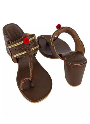 Dak Brown Kaitoon Heels - The Ethnic Fix - Dubai - UAE
