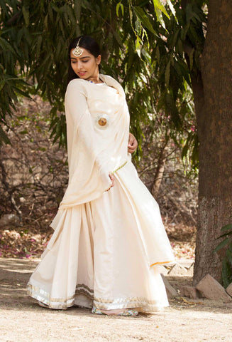 Sharmila Lehenga Set-Set of Kurta,Ghaghra skirt and dupatta - The Ethnic Fix - Dubai - UAE