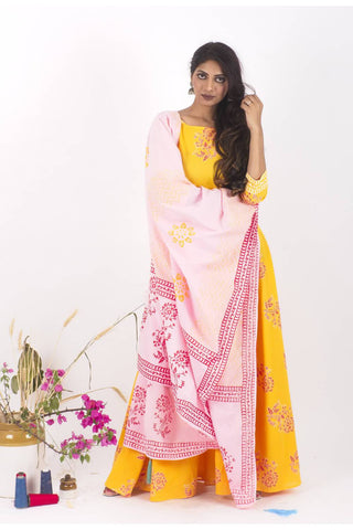 HeyDay Cotton Dress and Dupatta Set - The Ethnic Fix - Dubai - UAE