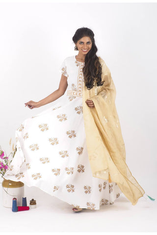 DesertBloom Dress and Dupatta Set - The Ethnic Fix - Dubai - UAE