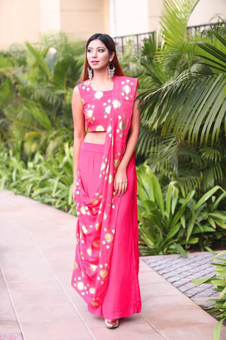 Pink Pant Saree - The Ethnic Fix - Dubai - UAE