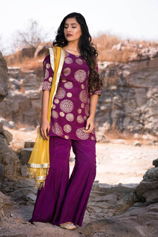 Plum Garara set - The Ethnic Fix - Dubai - UAE