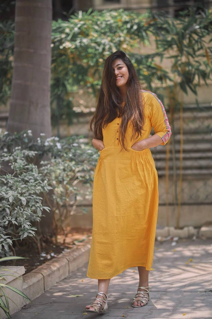 Daffodils Fit & Flare Dress - The Ethnic Fix - Dubai - UAE