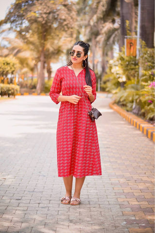 Red Poppy Dress - The Ethnic Fix - Dubai - UAE
