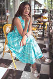 Green Checks Dream Fall Dress - The Ethnic Fix - Dubai - UAE