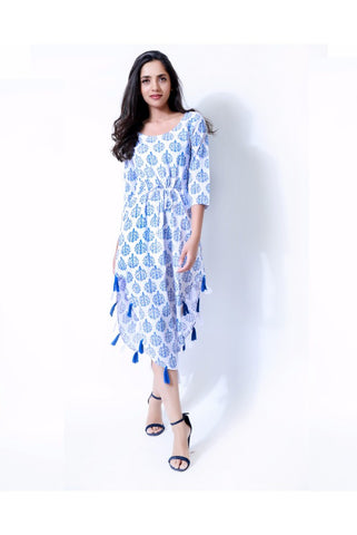 Block Print Summer Dress - The Ethnic Fix - Dubai - UAE