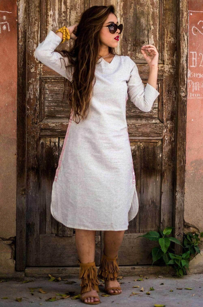 Side - Button -Down- Midi Dress - The Ethnic Fix - Dubai - UAE
