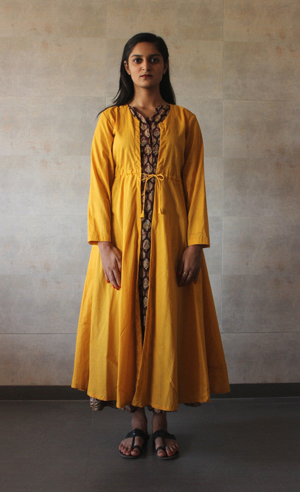 Yellow Cotton Cape - The Ethnic Fix - Dubai - UAE