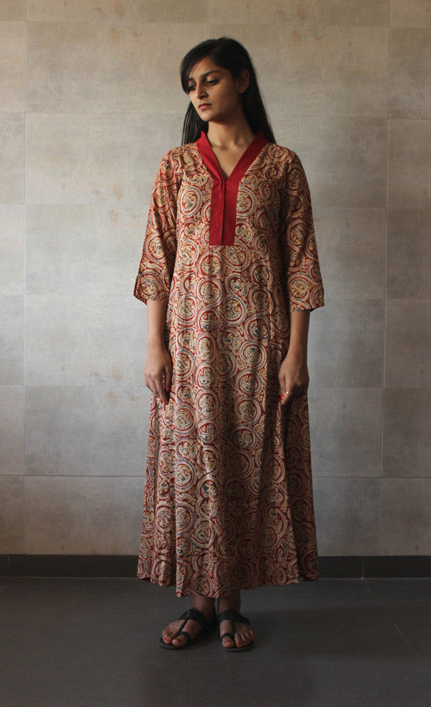 Red Printed Tunic - The Ethnic Fix - Dubai - UAE