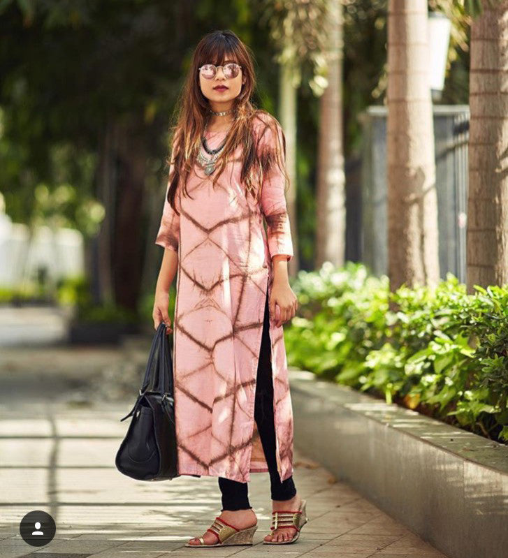 Peach Kurta - The Ethnic Fix - Dubai - UAE
