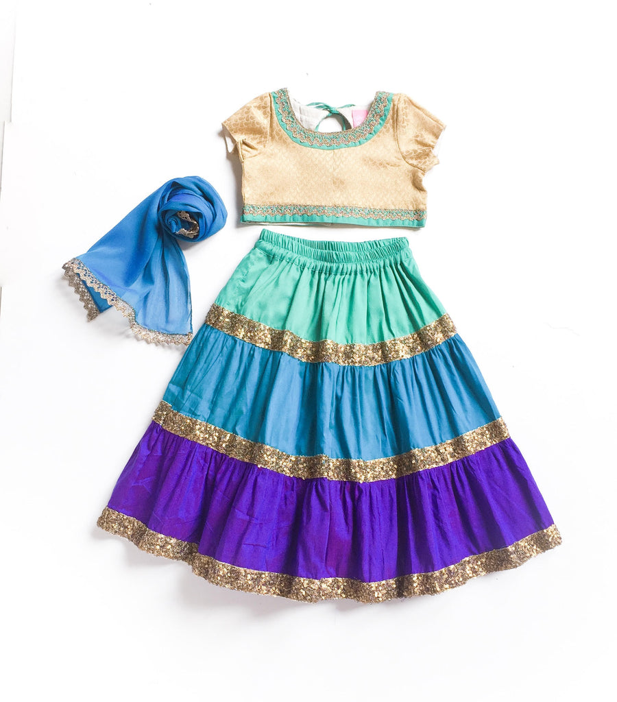 Colourblock Lehenga Set - The Ethnic Fix - Dubai - UAE