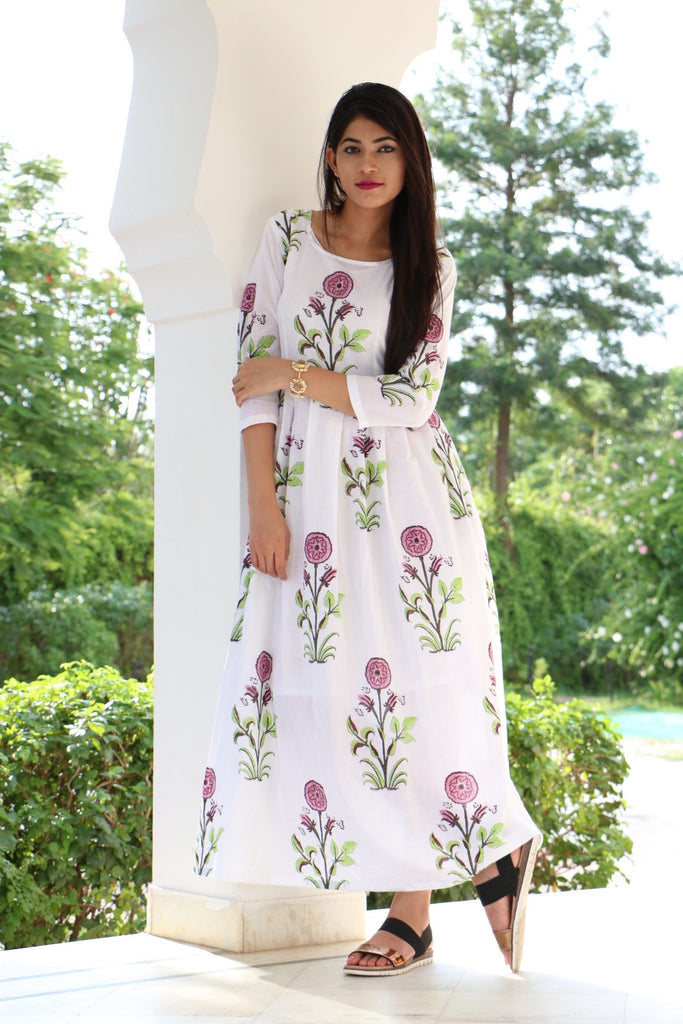 Mughal Print Maxi - The Ethnic Fix - Dubai - UAE