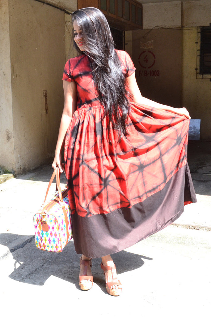 Red Tie & Dye Dress - The Ethnic Fix - Dubai - UAE