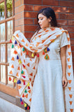 White Street Chic with Dupatta - The Ethnic Fix - Dubai - UAE