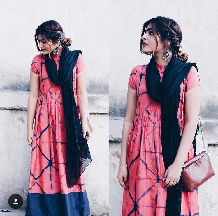 Pink Tie & Dye Dress - The Ethnic Fix - Dubai - UAE