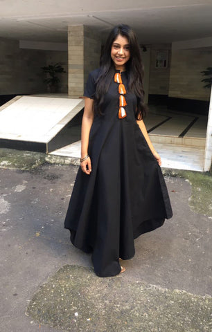 Black Street Chic with Dupatta - The Ethnic Fix - Dubai - UAE