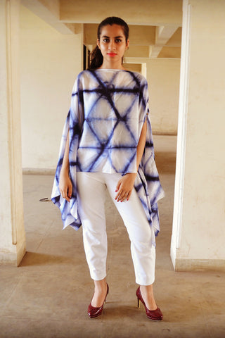 Triple Styling Zig Zag Poncho - The Ethnic Fix - Dubai - UAE