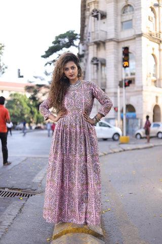 Pink Mughal Maxi – The Ethnic Fix - Dubai - UAE