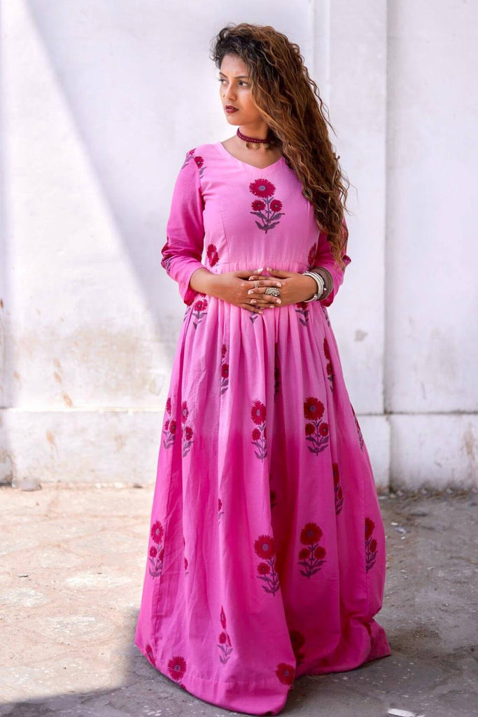 Pink Ombre Maxi - The Ethnic Fix - Dubai - UAE