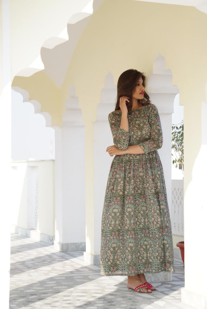 Earth Green Maxi - The Ethnic Fix - Dubai - UAE
