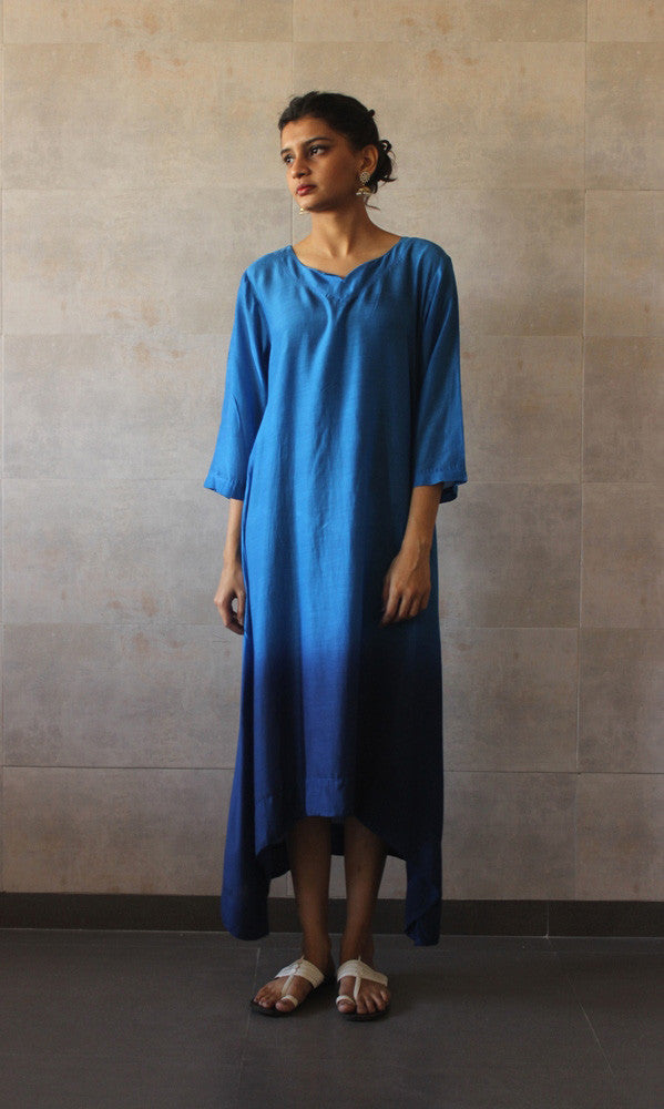 Blue Ombre Tunic - The Ethnic Fix - Dubai - UAE