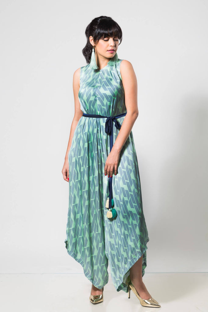 Turqoise Jumpsuit - The Ethnic Fix - Dubai - UAE