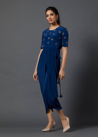 Cobalt Blue Jumsuit - The Ethnic Fix - Dubai - UAE