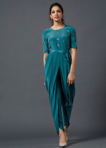 Teal Blue Jumsuit - The Ethnic Fix - Dubai - UAE