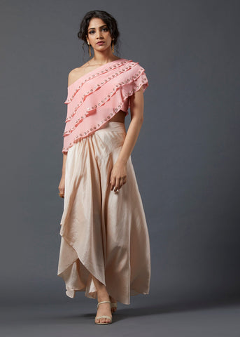 Pink Frill Top & Skirt - The Ethnic Fix - Dubai - UAE