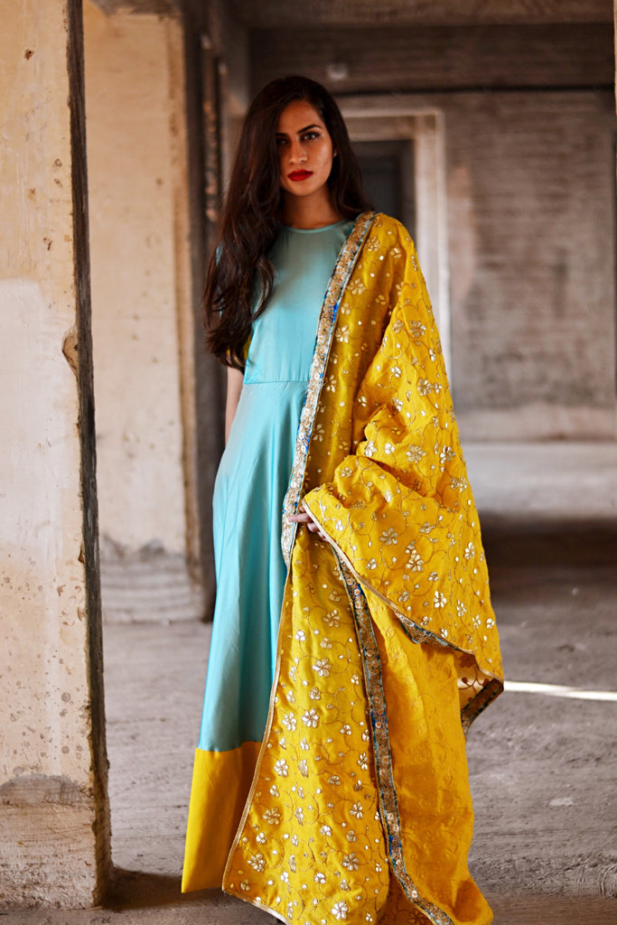 Blue Cut Dress - The Ethnic Fix - Dubai - UAE