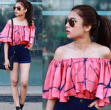 Pink Tie & Dye Crop Top - The Ethnic Fix - Dubai - UAE