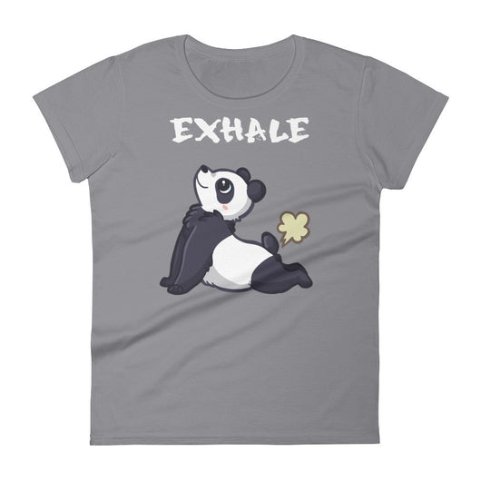 Panda short sleeve t-shirt white text